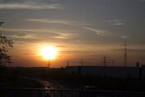 Sonnenuntergang nicht so weit von Hannover.