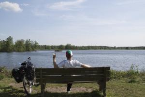 Einfach das gute Wetter am Meissendorfer Teich genießen.