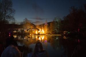 Feuerparti während der Walpurgisnacht in Braunlage.