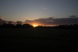 Unterwegs nach Braunlage kommt der Sonnenaufgang.