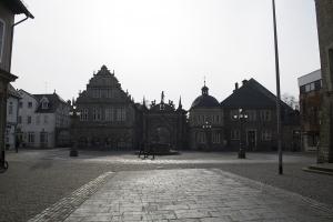 Der Marktplatz im Bückeburg.