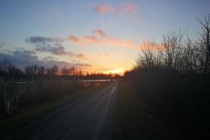 Sonnenuntergang am Mittellandkanal.