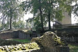 Im Hov von Burg Lichtenberg.