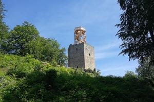 Schloss Lichtenberg. Der Aussichtsturm war zu.