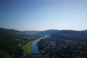 Blick aus Bismarckturm in der Nähe von Bodenwerder.
