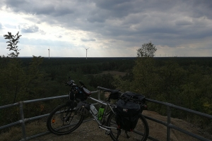 Mit dem Rad auf dem Ölberg.