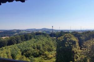 Hitzentour - Tag 2 - Köteberg in der Weite. Blick aus Hungerbergerturm.
