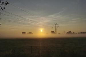 Die Sonne kommt auf