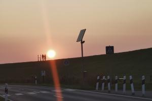 Sonnenuntergang in der Nähe von Dornum