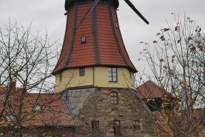 Regen - Nebel - Schlamm - 19000km - Alte Windmühle in Dunau.