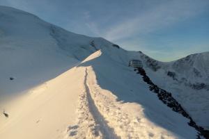Mont Blank - Tag 4 - Unterwegs nach  Refuge du Goûter.