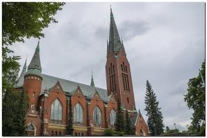 Eine Kirche in Turku Finland