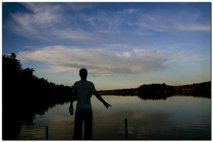 Nach dem Sonnenuntergang am Vesijärvi