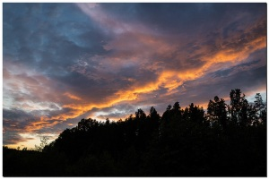 Kurz nach dem Sonnenuntergang am Pitajarvi
