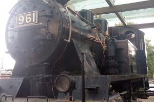 Alte Lokomotive in Jyväskylä