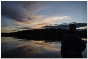 Nach dem Sonnenuntergang am Dievalijarvi