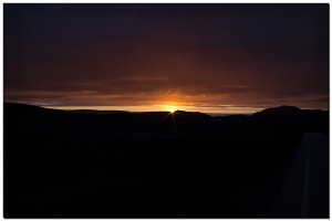 Sonnenaufgang neben Nordkapp