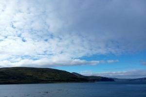 Das gute Wetter in Norwegien nicht so weit von Honnigsvag.