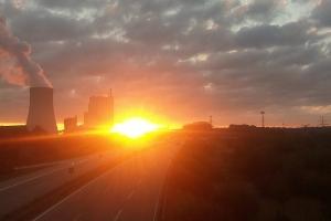 Sonnenaufgang in Rostock.