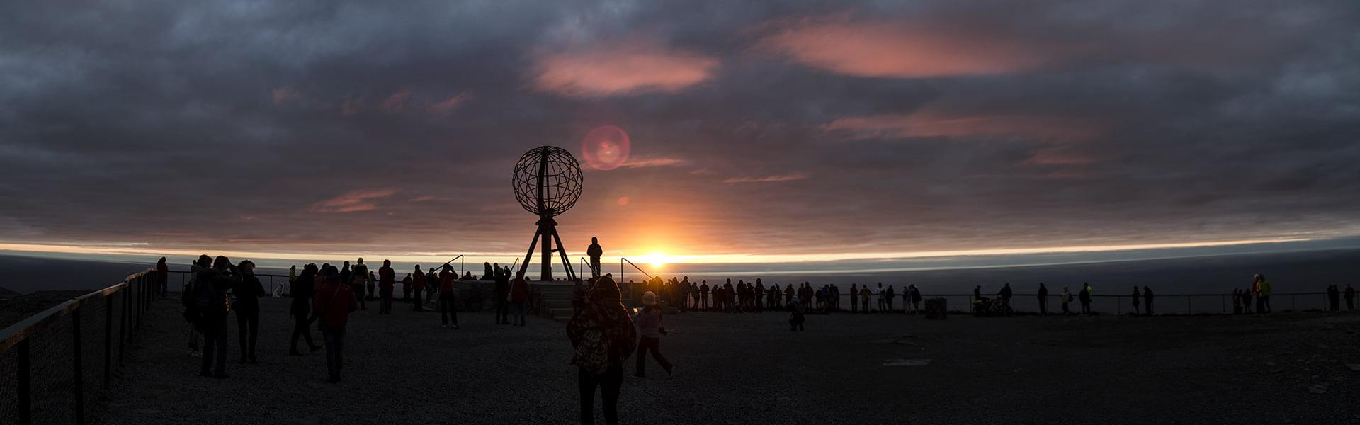 Sonnenuntergang am Nordkapp.