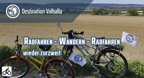 Radfahren - Wandern - Radfahren - wieder zurzweit